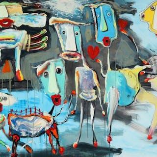 Kjeld Appel: Composition with figures
