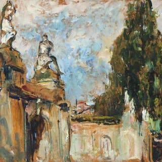 Alexander Jamieson: View from Bassin des Cascades at Château de Fontainebleau