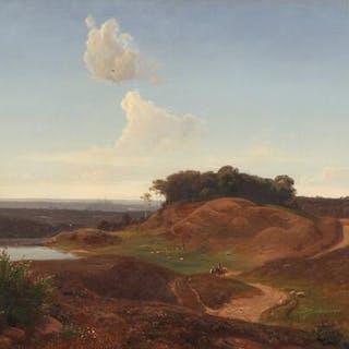 Frederik Kraft: A hilly landscape near Frederiksborg Castle north of Copenhagen