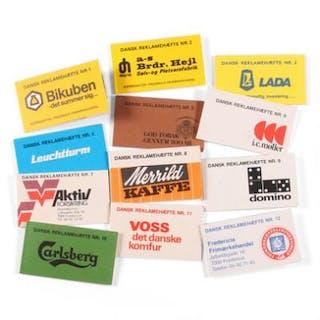 """Booklets. Complete set booklets """"Dansk Reklamehæfte"""". Nr.1–12. DAKA: 3100"""