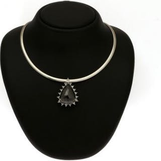 A diamond pendant set with numerous diamonds
