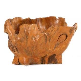 Unknown designer: Sculpture/bowl of fruit trre root