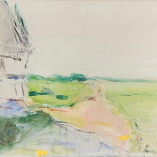 Oluf Høst: House in landscape. Signed OH. Oil on canvas. 47×65 cm.