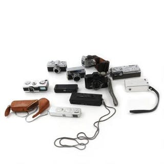 Ten various spy and mini cameras mrk