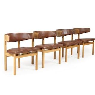 Børge Mogensen: A set of four oak armchairs