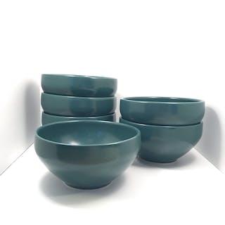 Höganäs Keramik M-L Hellgren Collection - 6 St Frukostskålar Veronagrön