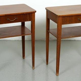 2 st. Sängbord i Trä - Nattduksbord - Retro - 1960 tal