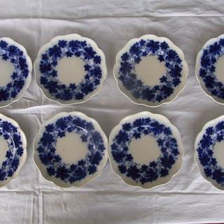 8 st Gefle Vinranka assietter i flytande blått, 19 cm i diameter