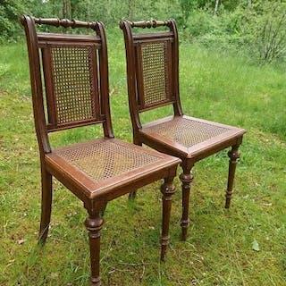 Stolar Ett Par Rotting/Trä 19-talets Början