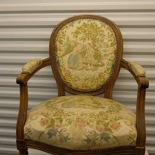 2 St Rokoko stolar, okänd ålder sannolikt 50-tal