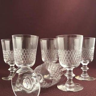 Kosta boda - Diamant - 6 st Stark vin glas design Vicke Lindstrand