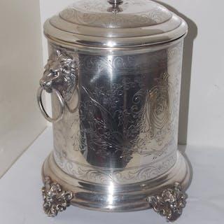 ISHINK/VINKYLARE--1800-TAL-MED LEJON MASKARONER-FINT GRAVERAD- SE BILDER. LÄS