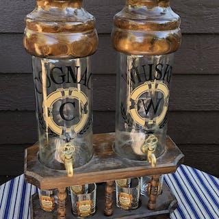 ! Grant's finest scotch whiskey karaff med kran cognac