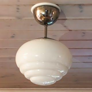 Art Deco lampa taklampa 1930-tal funkis klotlampa design retro opalglas