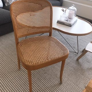 "Josef Hoffmann vintage bentwood stol ""Prague Chair"" Ton Thonet rotting"