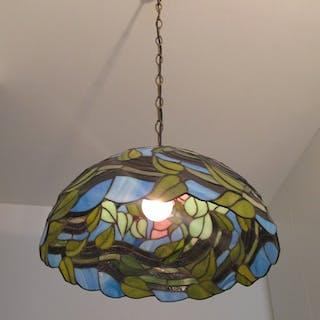 Stor vacker  TAKLAMPA Lampa Tiffanylampa