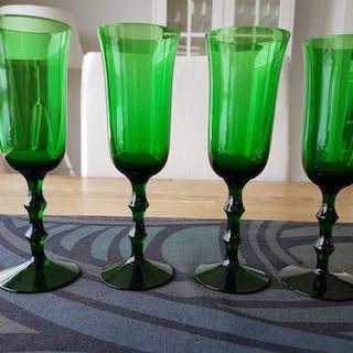 Salut glas Simon Gate gröna Orrefors 4 st