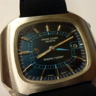 Favre-Leuba Memoraider (alarm) automatic 70-talet vintage