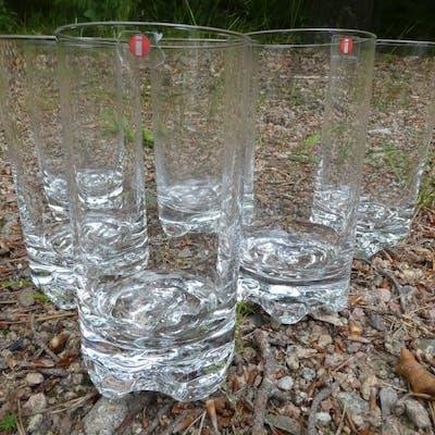 "6 stora ""Gaissa"" glas ölglas TAPIO WIRKKALA Iittala 1/2"