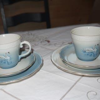 Kaffekopp/fat/assiett 12 st Svansjön tillverkat för SDR av Bavaria, Tyskland
