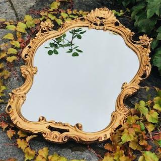 Fantastisk spegel i ROKOKOstil med guldram - guldspegel