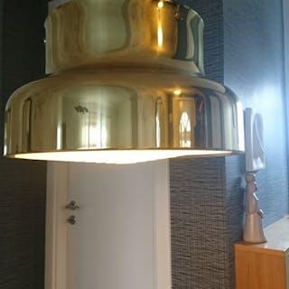 Äldre Bumling - taklampa - mässing - Atelje Lyktan - 40 cm diameter - retro.