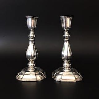 Ljusstakar ett par, silver, barockstil, bruttovikt 667g