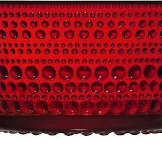 Iittala Oiva Toikka Kastehelmi röda skålar 2,3 dl nya i original emballage!