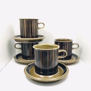 Arabia Finland KOSMOS - 4 Big Size Coffee Cups / Stora Kaffekoppar