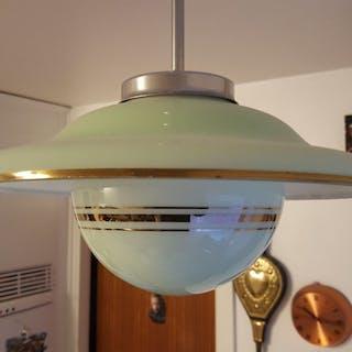 art deco lampa tror är saturnus taklampa 40tal