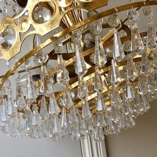 Kristallkrona, taklampa, lampa, tak, kristall, retro, vintage