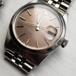 Rolex datejust 16000 slate/tropical dial på jubilelänk