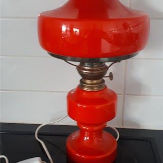 Fotogenlampa KOSMOS BRENNER Bordslampa röd Elektrifierad