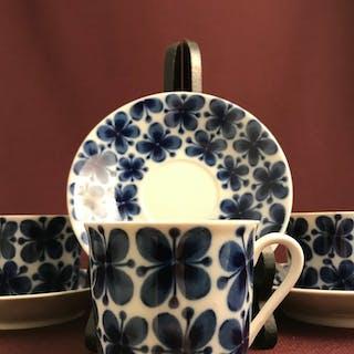 Rörstrand - MON AMIE - 4 st Kaffe koppar & Fat Design Marianne Westman