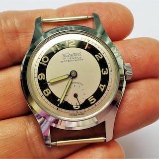 Vintage GREWACO MILITÄR NOS herrklocka armbandsur 1950-tal SUPER SÄLLSYNT RARE