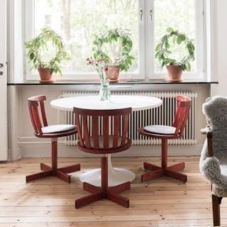 5 snurrbara stolar från Edsbyverken Svensk möbelindustri