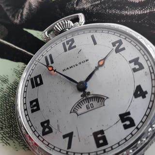 Hamilton-ur 14k gold-filled med roterande sekundtavla