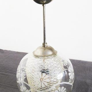 Art Deco lampa 30-tal-40-tal, taklampa Retro, Funkis Inredning Antik