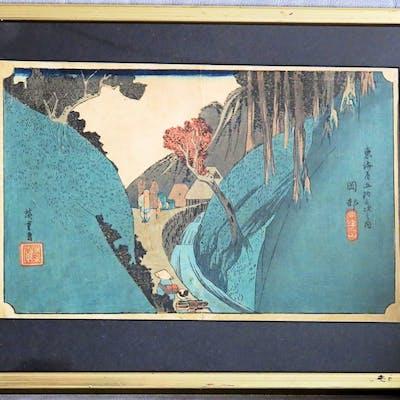 Japanskt Träsnitt - Ando Hiroshige, 1797 - 1858