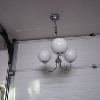 Funkis Art deco trearmad klotlampa taklampa