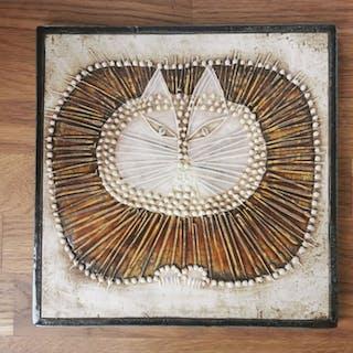 """Väggplatta, Lisa Larson """"Unik"""", Katt, numrerad nr 9"""