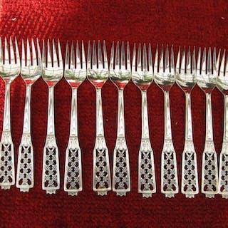 Matbestick i äkta silver