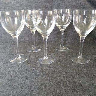 Kosta Boda Chateau vinglas, 5 st, Bertil Vallien