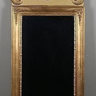 FANTASTISK FIN ANTIK SPEGELN I ROKOKO FÖRGYLLD  Ca 160 x 72 cm. FINT SKICK