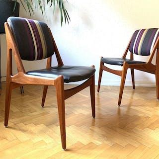 Retro stolar i teak, dansk design från 60-tal av Arne Vodder