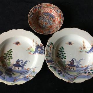 3 antika Kina djup fat