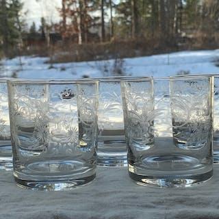 5 ST GLAS MED VACKER SLIPNING.