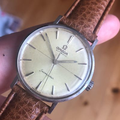 """Omega Automatic Seamaster """"haircross"""" dial 60's"""