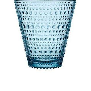 Iittala Oiva Toikka Kastehelmi ljusblå stora dricksglas, nya!