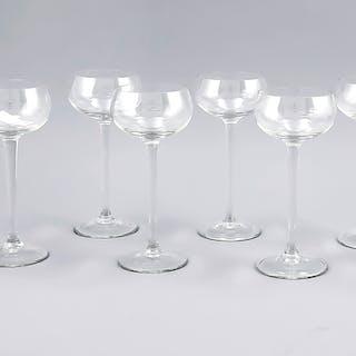 Sechs Jugendstil-Weingläser
